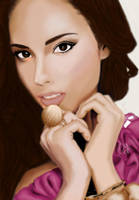Alicia Keys by DiamonikaDunsonArt