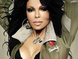 Janet Jackson by DiamonikaDunsonArt