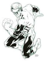 Green Lantern Inks by RansomGetty