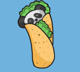 Panda Burrito/Taco | Digital Arts by wtxy
