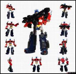 Optimus Prime/Convoy - robot mode by QuQuS