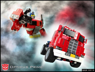 Optimus Prime/Convoy - main graphic by QuQuS