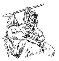 Princess Mononoke by Dasheshka