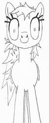 Creepy Rainbow Dash          (sketch) by monofluore
