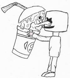Slushii, Marshmello sketch by monofluore