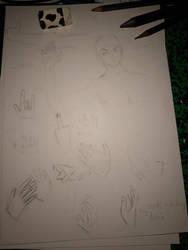 body study - hands  by monofluore
