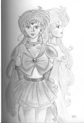 Sailor Death Star and Bakeru by princess-seranade