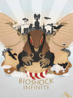 Bioshock Infinite Poster (+ video making of) by Slaizen
