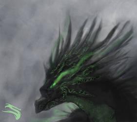 Painting dragon test by Slaizen