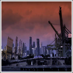Skyline Harbor by SporianBonja