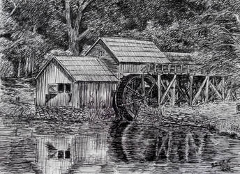 A water mill #9 by long-haired-lady