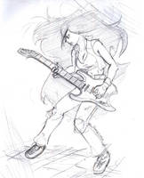 Guitar Villain Sketch by Vicious713
