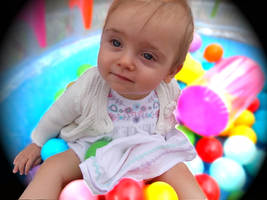 Colours, fun and joyful play of an infant by Pixie-Aztechia