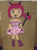 Ichigo Momomiya cardboard cut out by Pixie-Aztechia