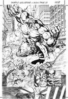 Sample Wolverine vs Hulk by rllas
