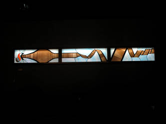 K Stained Glass - Installed by Nestalgica
