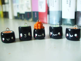 Sushi Roll Charms by Number1FMAfangirl