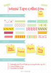 Washi Tape Designs Pack 1 by jcroxas