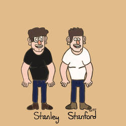 Practice Sketches of Stan and Stanley by KyraLynMoss
