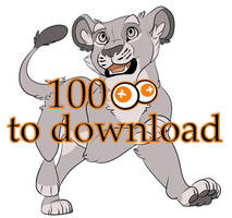 Lion Cub Lineart by Mikaces