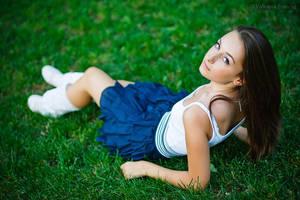 Albastrea in iarba by Valentin-Stanciu