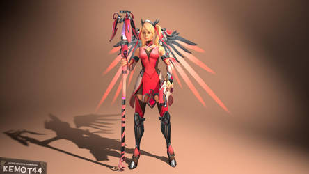 [SFM] Mercy Pink [Overwatch] [Model] by Kemot44