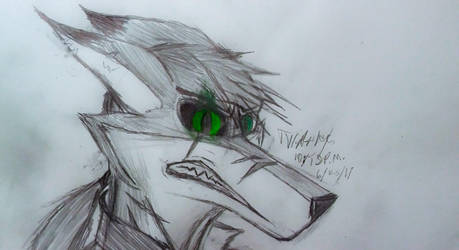 Enraged (sketch) by CrimsonFox74