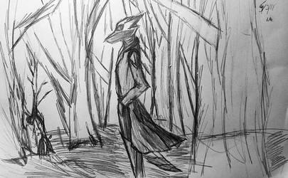 Still Here (sketch) by CrimsonFox74