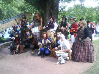 Steampunk Group at Connichi by The-Colour-of-Sand96