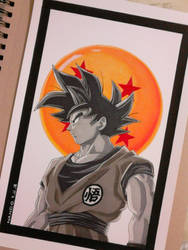 Goku by nandoartcastle