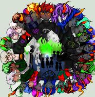 homestuck trolls WITH HUMANS by SmasherlovesEvil