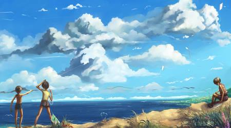 August - season of winds by Hangmoon