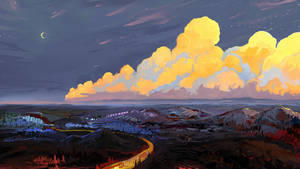 Orange clouds by Hangmoon