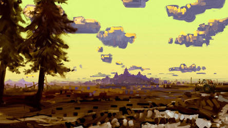 Yellow Sky Field by Hangmoon