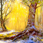 Impressionistic Forest by Hangmoon