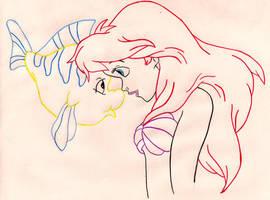 Ariel and Flounder by IrishxoxQueen
