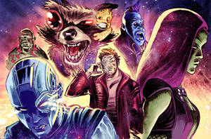 Guardians of the galaxy commission color by flavianos
