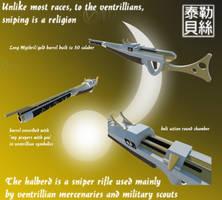 Halberd Sniper Rifle by Gwentari