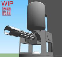 Empire class CIWS turret WIP by Gwentari