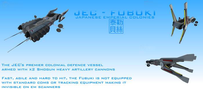 JEC Fubuki Class Electronic Warfare Destroyer by Gwentari