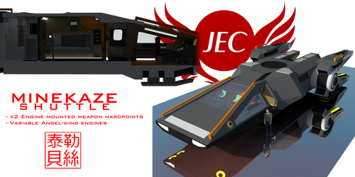 Minekaze Class Shuttle by Gwentari