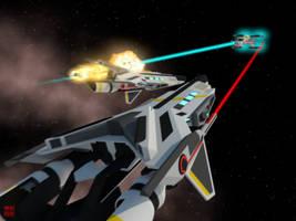 Deep Space Battle by Gwentari