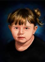 Sad Girl Painting Portrait by KarimStudio