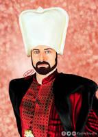 Halit Ergenc (Sulejman) Digital Painting by KarimStudio