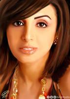 Angham Egyptian Singer | Digital Painting by KarimStudio
