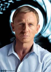 Daniel Craig | Digital Painting by KarimStudio