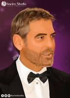 George Clooney | Digital Painting by KarimStudio