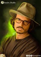 Johnny Depp | Digital Painting by KarimStudio