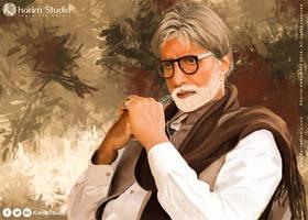 Amitabh Bachchan   Digital Painting by KarimStudio