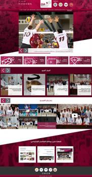 Qatar Volleyball Association Website by KarimStudio
